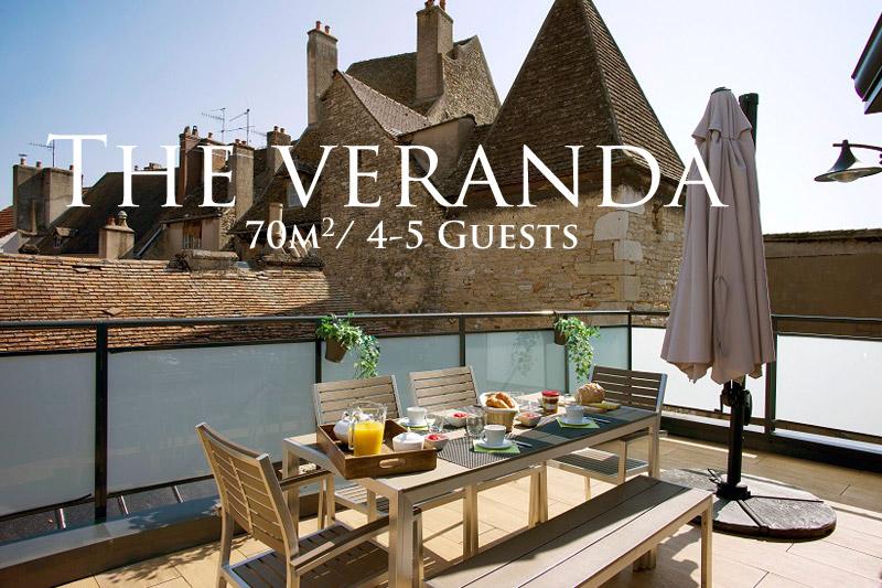Vacation rental - La Terrasse des Climats Beaune - The Veranda